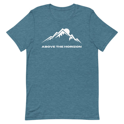 unisex-deep-teal-heather-above-the-horizon-t-shirt