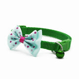 Adjustable Polyester Charm Necklace Collar For Dogs with Bell and Bow