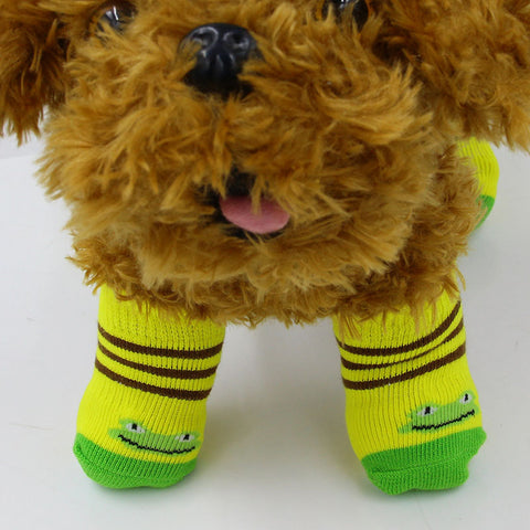 Dog Castle 4pcs Warm Indoor Anti-Slip Socks