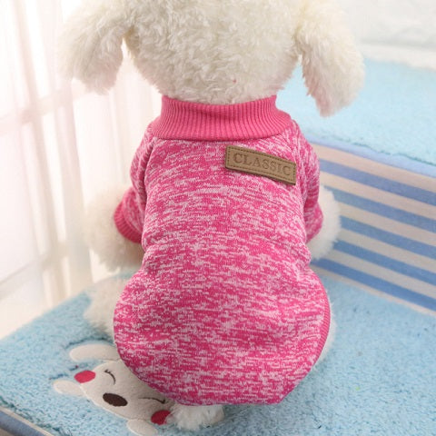 Winter Dog Sweater Warm Clothing  8 Colors XS-2XL