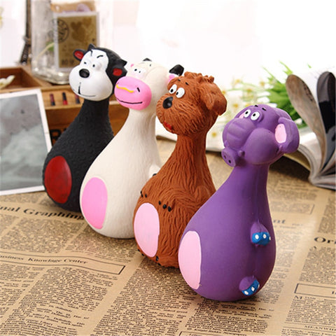 Cute Animated Squeaky Chew Toys For Dogs