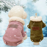 Flurry Neck Winter French  Dog Jacket For Your Loyal Puppy