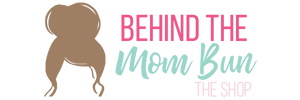 behind the mom bun header logo