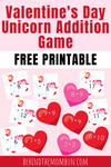 Unicorn Addition File Folder Game