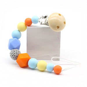 Silicone Beads Baby (Pacifier Clip)