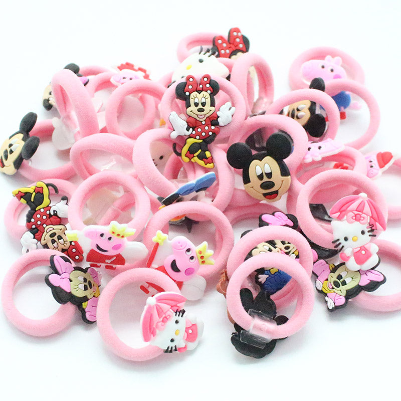 10Pc Kids Elastic Soft Fabric Hair Band
