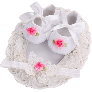 2016 New Dots Baby Girls Shoes Headbands Sets,Ballerina Booties,Fashion Newborn Shoes,Imperial Crown Princess First Walker
