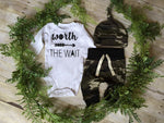 Army Green Baby Clothes Romper T-Shirt Long Pants And Hat Outfits 3 piece set