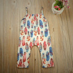 Baby Girl Floral Print Romper Toddler Jumpsuit Sunsuit