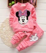 2pc Minnie Long Sleeve Cartoon Kids Jogging Suit