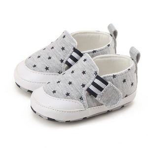 2017 Summer Baby Shoes Anti-Slip Star Printed Soft Bottom Sneakers Boy First Walkers for 0-18 Month