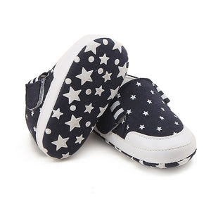 Anti-Slip Star Printed Soft Bottom Sneakers for 0-18 Month Baby Boy