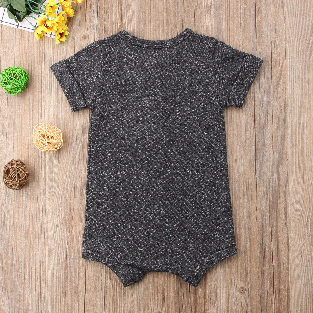 Cotton Short Sleeves Casual Romper Jumpsuit for Newborn Toddlers