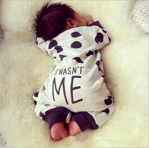 Hot Selling Long-sleeved Dot Jumpsuit Clothing Set for Infant