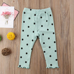 Long Casual Polka Dot Lovely Trousers/legging for Baby Girls
