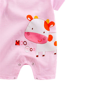 Cute cartoon printed Summer Romper For Infant