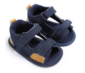 Soft Soled Summer Style Fashion Anchor Toddler Indoor Shoes