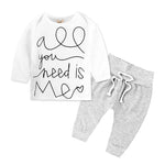 2pcs Sport Suit Set for Baby Boy with Long-sleeved top and pant