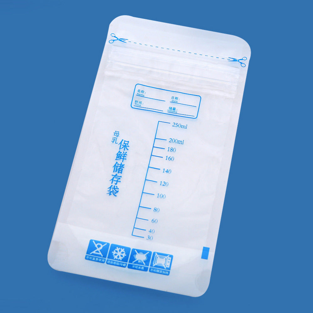 30Pc 250ml Breast Milk Storage Freezer Bag