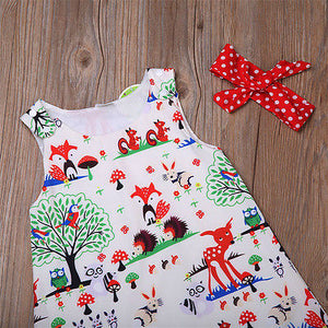 3PCS Infant Toddler Kids Baby Girl Clothes Top Dress+Short Pants+Headband Outfits Set
