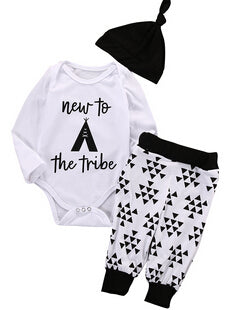 Floral Jumpsui Romper+Black Rose Pants,Headband Set of Baby Outfit