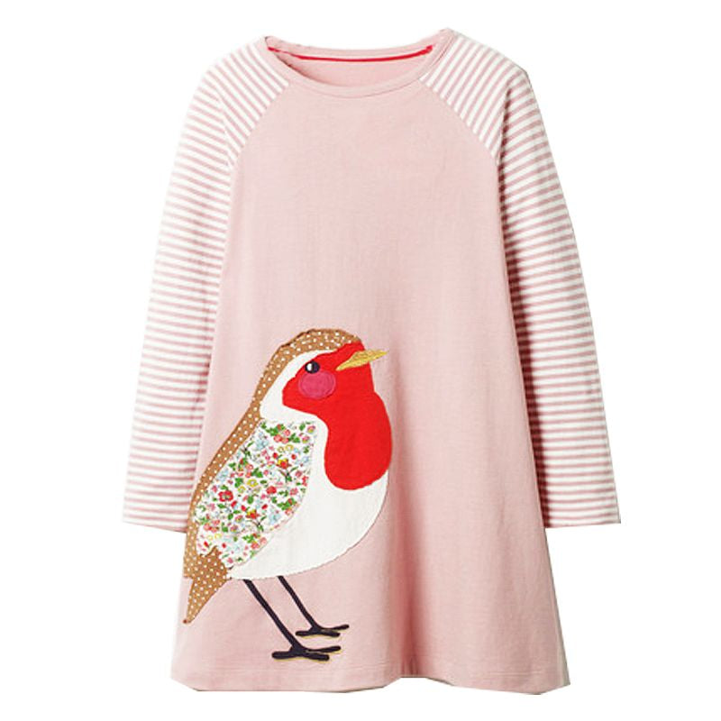 Baby Girls Animal Dress (Long Sleeve) - More options