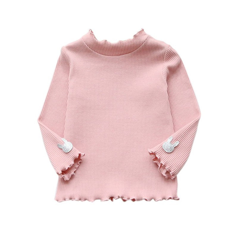 Korean Cotton Long Sleeved Primer Shirt Tops Sweater Clothes for Baby Girls