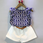 Baby Girl Flower Shirt & Pant Clothing Set