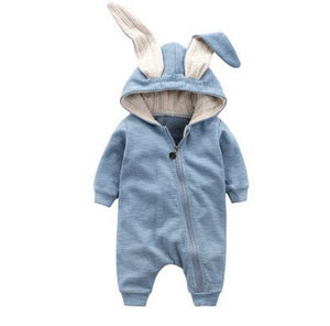 Rabbit Ear Hooded Baby Romper/Jumpsuit