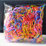Diameter 1cm 1000pcs/pack Baby Girls Disposable TPU Hair Accessories Rope Tie Gum Children Kids Elastics Rubber Bands kk17 1020