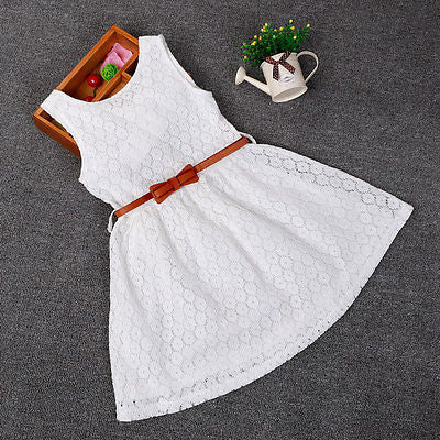 Lace Hollow Out Sleeveless Cool Princess Summer Dress