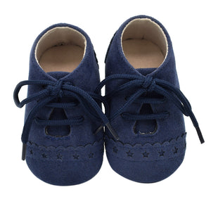 Baby Unisex Anti-slip Prewalker Leather Soft Shoes
