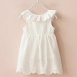 Baby Girl White Bow Style Sleeveless Dress