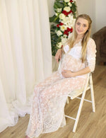 Women Maternity Photography Lace Gown