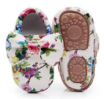 Lovely Bow Hard Sole Moccasions First Walker PU Leather Girls Shoes