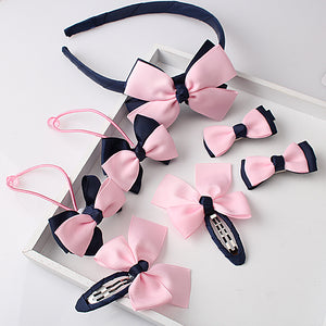 7pcs Hairband+Hairpins Gum+Bow Headwear+Hair clip+Headband Accessories Set