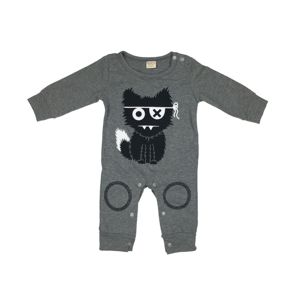 Cotton rompers (Long sleeve cartoon jumpsuit)
