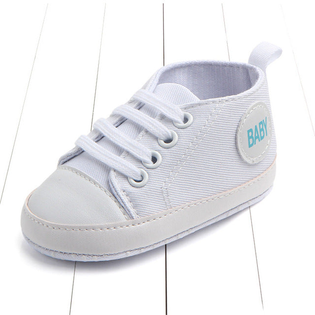 Baby Unisex First Walker Soft Sole Canvas Anti-slip Shoes Sneakers