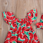 Newborn Baby Girl Watermelon Sleeveless Romper/Jumpsuit
