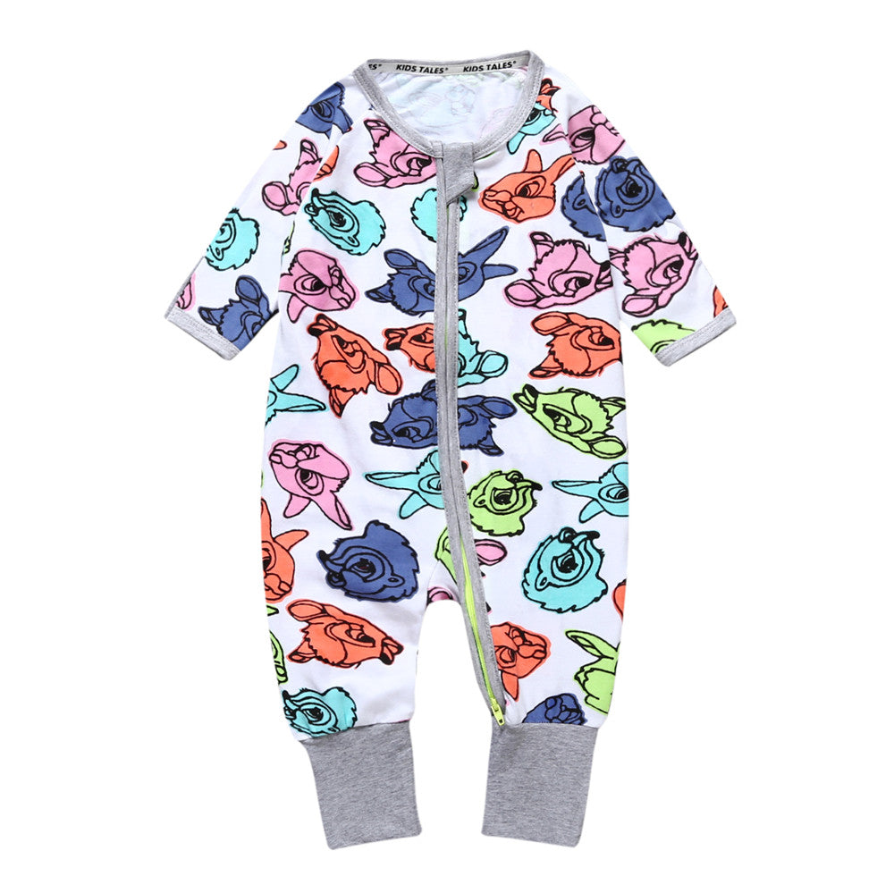 Floral Printed Long Sleeve Overall Pyjamas for Baby Girl