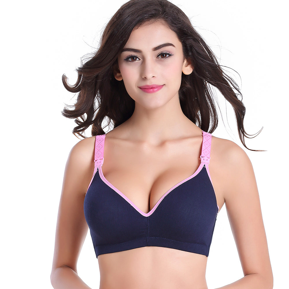 Women Cotton Adjustable-strap Breastfeeding Bra Briefs