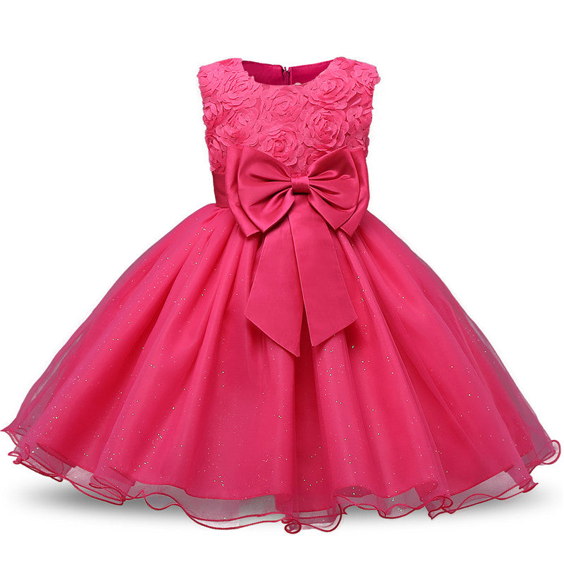 Girl Flower Princess Tutu Party Dress