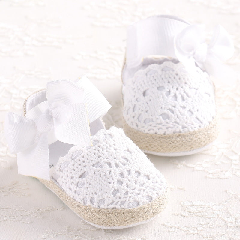 Lightweight Big Bowknot Ballerina Crib Shoes