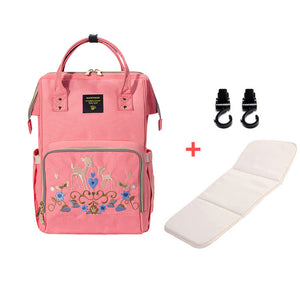 Mom's Large Diaper Bag Travel Backpack