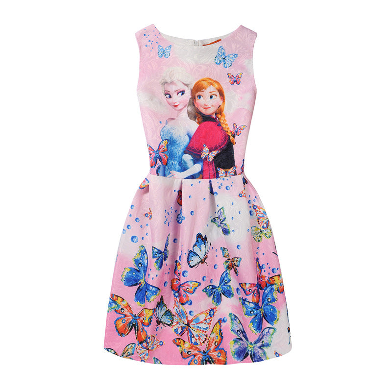 Girls Butterfly Princess Dress