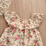 2Pc Newborn Baby Floral Tank & Bowknot Short