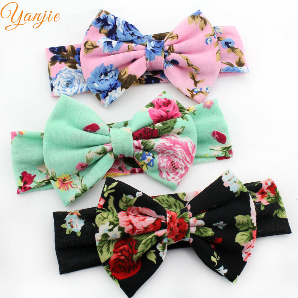 Baby Girl Floral Cotton Elastic Party Headband