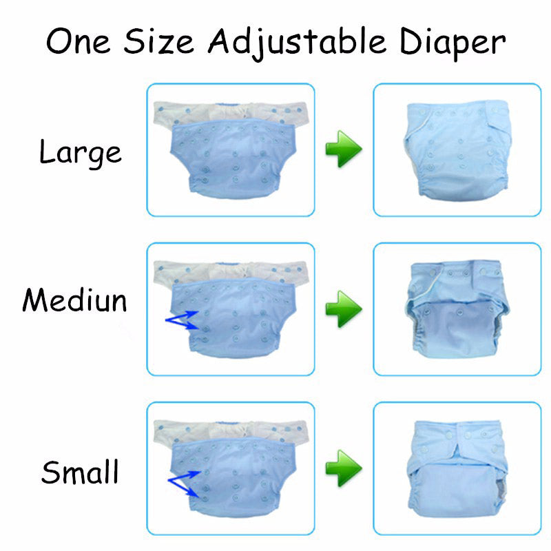 1Pc Reusable Waterproof One Size Pocket Diaper Nappy Suit