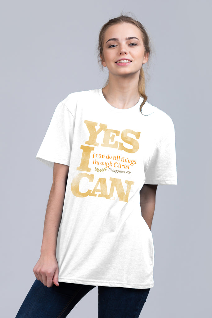 Yes I Can - Unisex Tee White/Gray