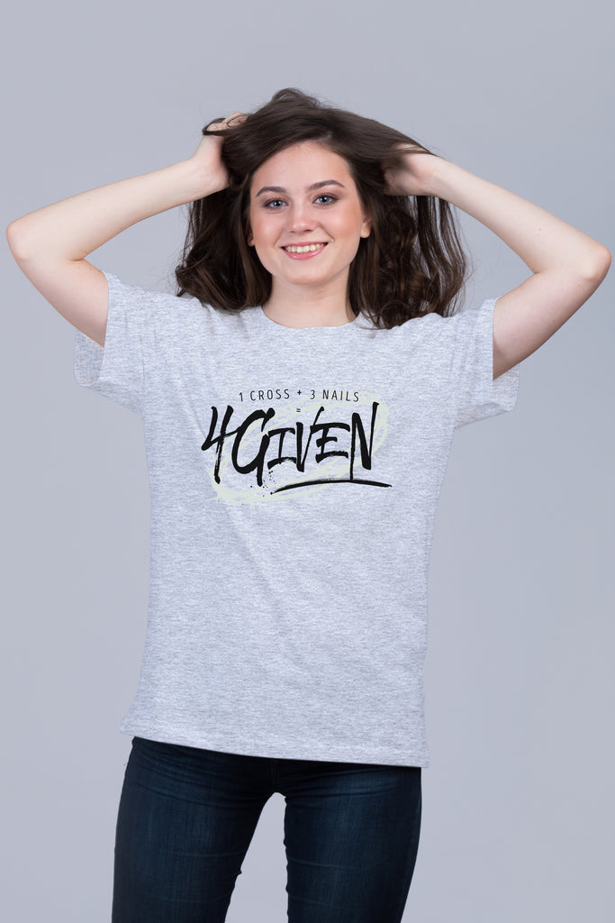 4Given - Unisex Tee White/Gray